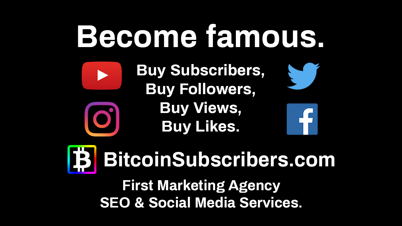 National ENQ NationalENQ.com Become Famous Buy Subscribers Buy Followers Views Likes BitcoinSubscribers.com Social Media Agency Marketing Services