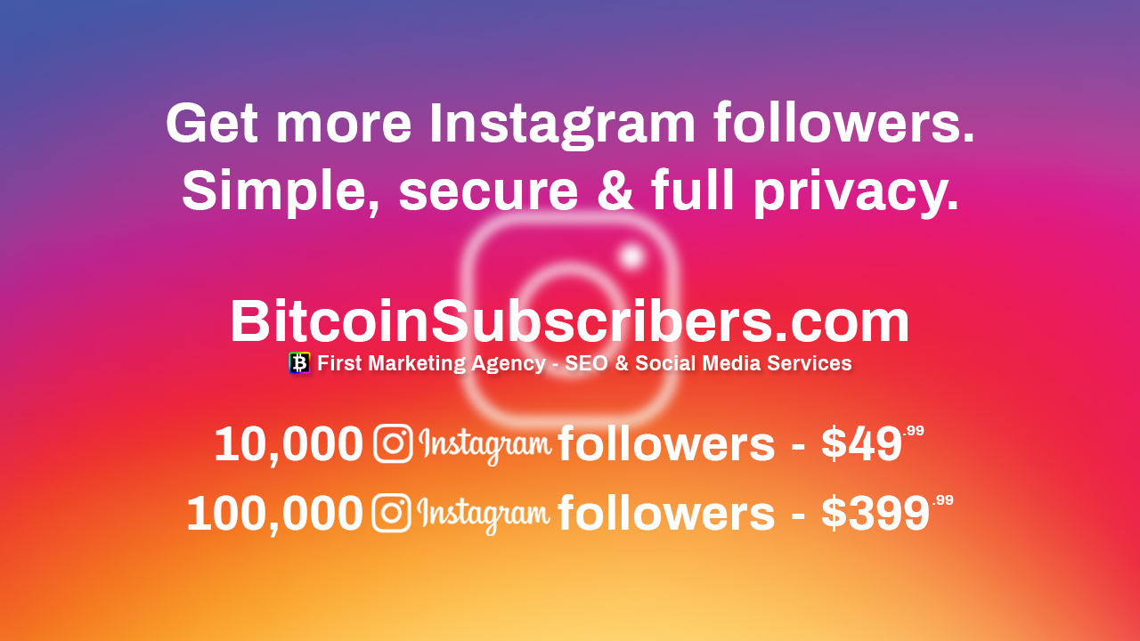 National ENQ NationalENQ.com Buy Instagram Followers Become Famous Buy Subscribers Buy Followers Views Likes BitcoinSubscribers.com Social Media Agency Marketing Services